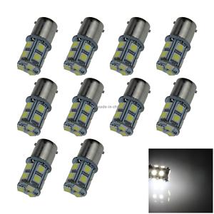 10x White AUTO 1156 Reverse Lamp Corner Light 13 5050 SMD LED 1159 67 BA15S D003