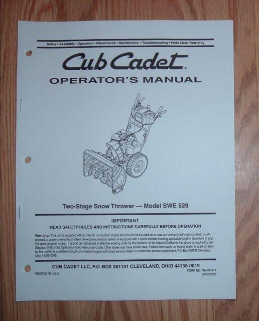 Adjustments, skid shoes, auger control | cub cadet 524 swe user.