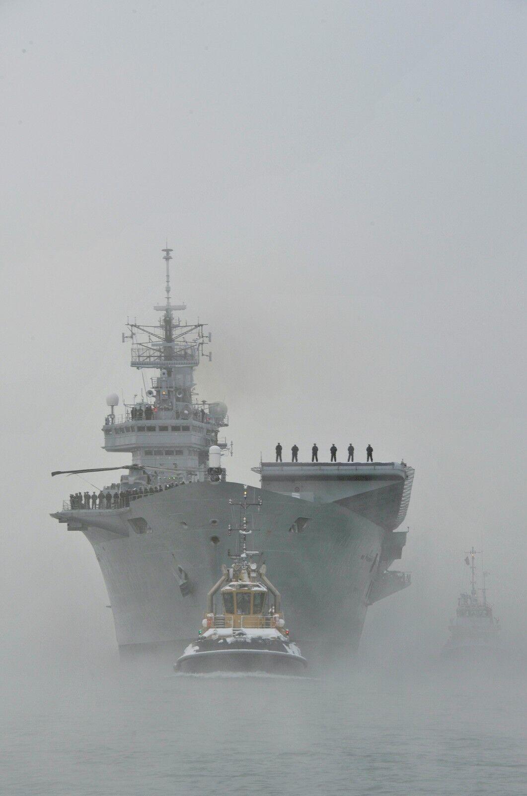 Aircraft Carrier HMS ARK ROYAL FINAL HOME COMING   Photo Print