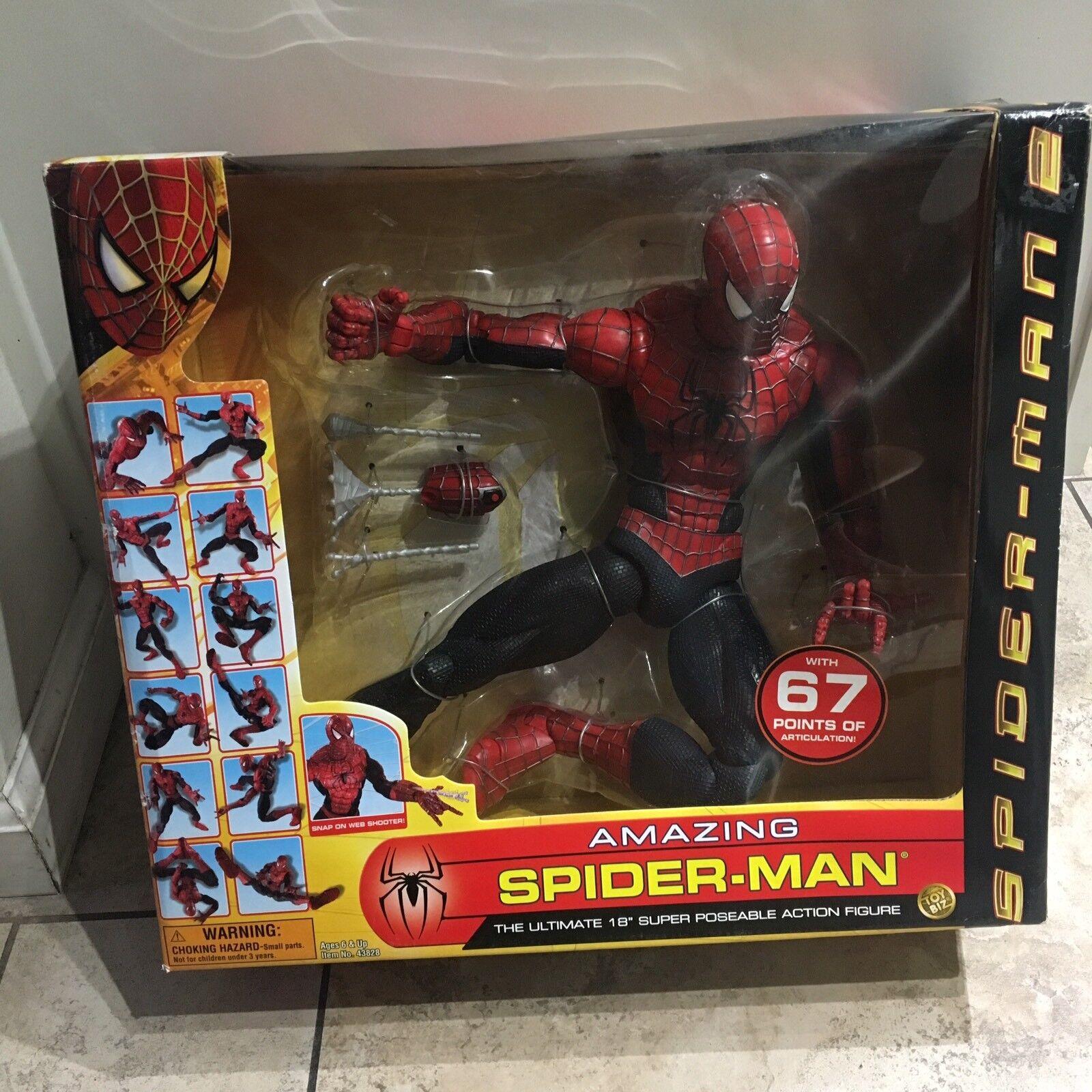 "18 "" Spider-Man Figure 67 Points Of Articulation"