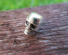 10 x Skull Beads Perlen Totenkopf Schädel Metall Anhänger für Paracord - Armband