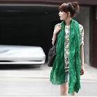 New Fashion Women's Soft Wrinkle Cotton Blend girl Scarf Wrap Shawl