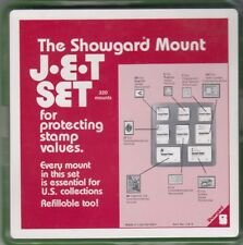 Showgard New Clear Stamp Mounts JET Set US2 8 Sizes in Tray 320 Total