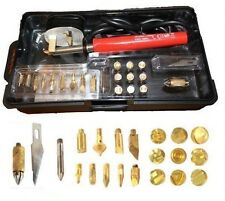30W PYROGRAPHY KIT BRASS WITH TIPS 25 PIECE SOLDERING TOOL SET 30W WOOD BURNER