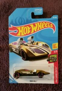 HOT WHEELS ~TWIN MILL ~ GAME OVER 3//5 ~ Card 93//250 2019 ~ TREASURE HUNT