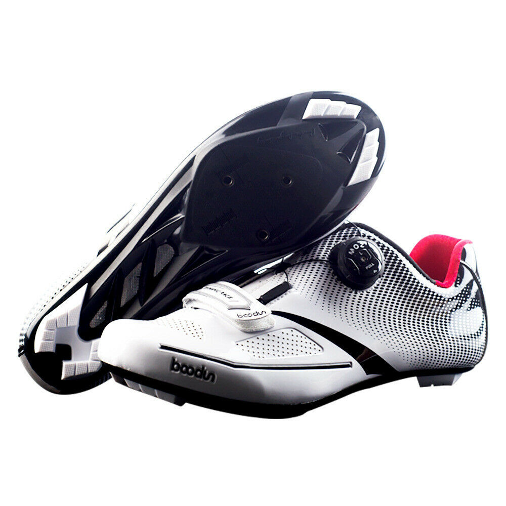 Breathable Pro Self-Locking Cycling Shoes Racing Ultralight Athletic Racing Shoes Sneakers 7b9cbb