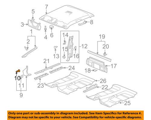 GM OEM INTERIOR TRIM-Windshield Pillar Retainer 11609682