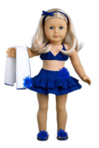 """Doll Swimsuit for 18/"""" American Girl Tropical Flip Flops Blanket Bikini Mini"""