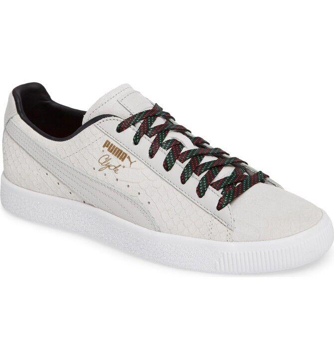 Men's PUMA CLYDE GCC   COLOR  White   Size  10.5 M US