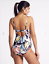 BNWT M/&S Secret Slimming Navy Multi Print Swimming Costume Swimsuit 34A