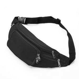 Waterproof Bum Waist Bag and Fanny Pack with 5 Zip Pockets for Men Women Bumbag Sling Chest Bag Hip Belt Pouch for Outdoor Sport Running Hiking Cycling Walking Travel Holiday