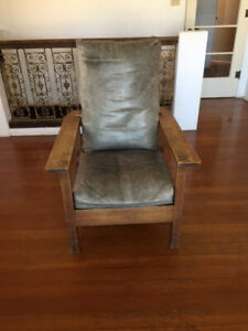 Cool Details About Antique And Signed L Jg Stickley Reclining Morris Chair Machost Co Dining Chair Design Ideas Machostcouk