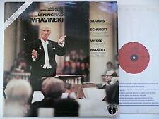 MRAVINSKY CONDUCTS BRAHMS SCHUBERT WEBER & MOZART LPO LE CHANT DU MONDE 78705-6
