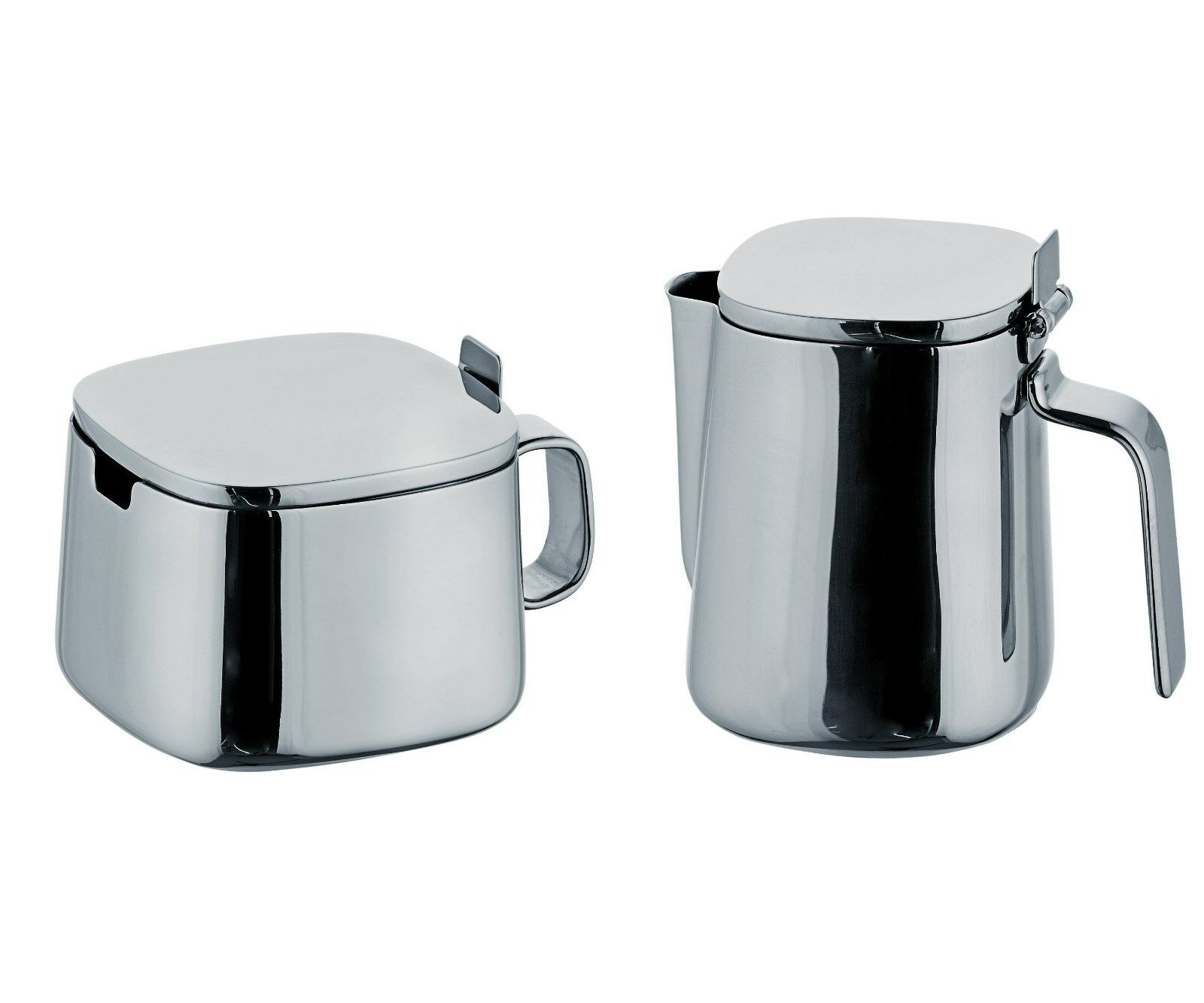 Alessi Kristiina Lassus Design Series En Acier Inoxydable Sugar bowl & Creamer Set