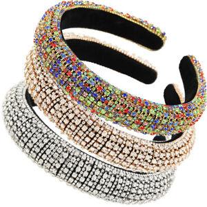 Baroque-Lady-Girl-039-s-Embellished-Headband-Rhinestone-Hairband-Jewelled-Crown-Prom