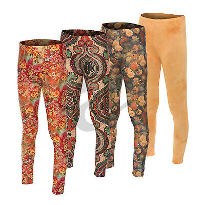 Women's Girls Kids Abstract Print Pattern Stretch Long Ladies Leggings Small