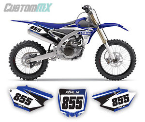 YAMAHA YZ YZF WR BACKGROUNDS NUMBER BOARD GRAPHICS 85 125 250 450