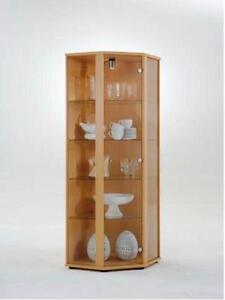 glasvitrine sammlervitrine eckvitrine vitrine beleuchtet. Black Bedroom Furniture Sets. Home Design Ideas
