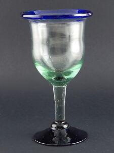 GRANDE BICCHIERE CALICE FATTO MANO HAND MADE ART CRYSTAL GLASS COLLEZIONE