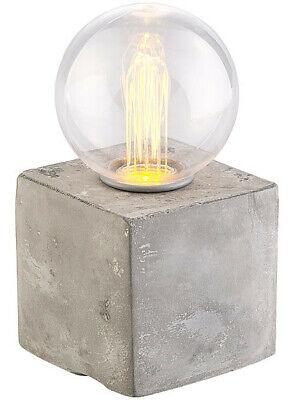 Lampe de table décorative à LED avec socle en béton, alimentation par piles ou | eBay