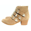 thumbnail 1 - ASOS Ryder Suede Buckle Western Taupe Ankle Boots 3 Retail £65