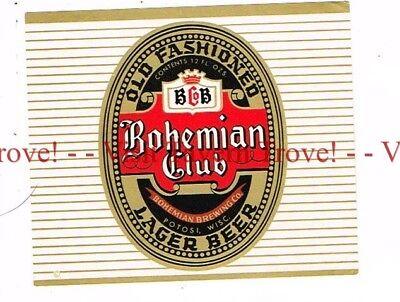 Unused 1960s Potosi Holiday Bock QUART Beer Label Tavern Trove Wisconsin