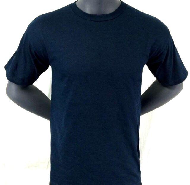 Adidas T-Shirt  Blank Navy Blue Tee SZ L - FREE SHIPPING BRAND NEW