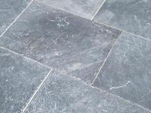 Travertin Boden Steine Platten Blue Antik Naturstein Fliesen - Steinfliesen für den boden