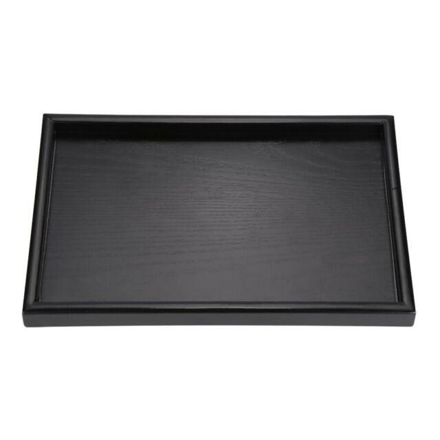 Rectangle Shape Wood Serving Tray Plate for Tea Water Coffee Fruit Juice Snack