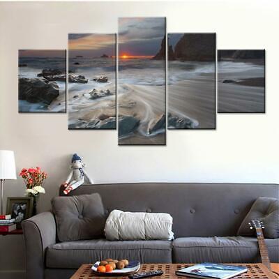 Beautiful Sea Wave 5 Piece Canvas Wall Art Poster Print Home Decor