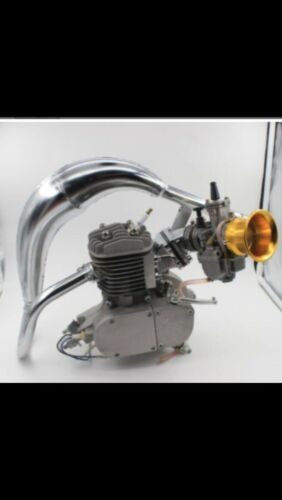 High-Performance Racing 2 Stroke Engine Exhaust Chrome Color