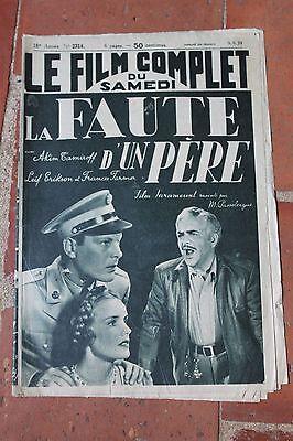 Le Film Complet du Samedi LA FAUTE D'UN PERE AKIM TAMIROFF N°2314 1939