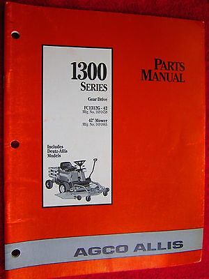 Agco Allis Fc1312g 42 Gear Drive Riding Mower Parts Manual Ebay