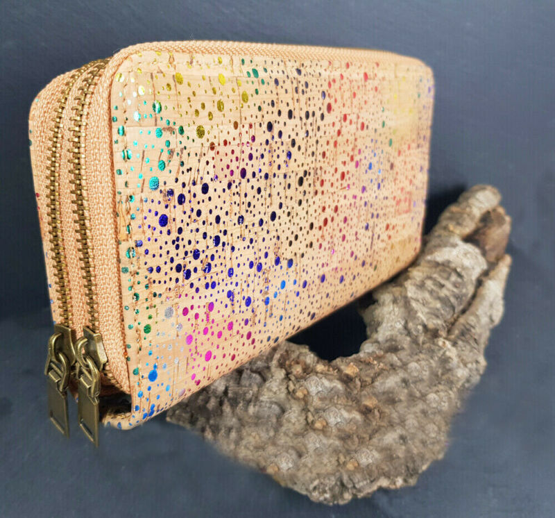 Amicable Ladies Purse Wallet Cork Large Wallet Vegan Lovely Luster