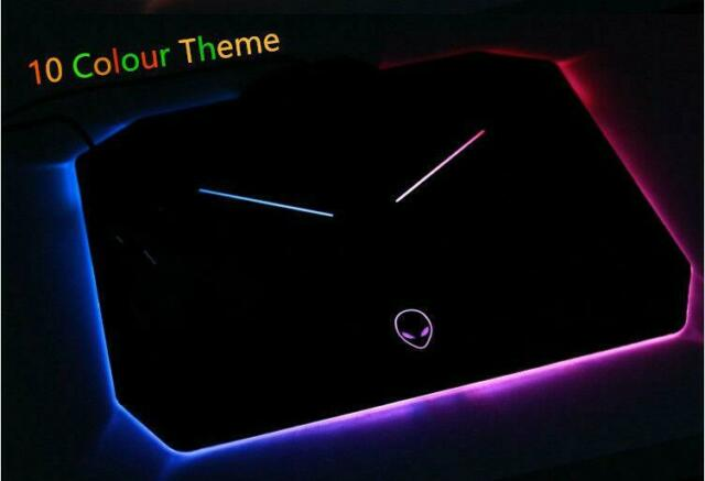 Alienware 10 Colour LED Mouse Pad PC Gaming Desk Computer Desktop Mousepad AU