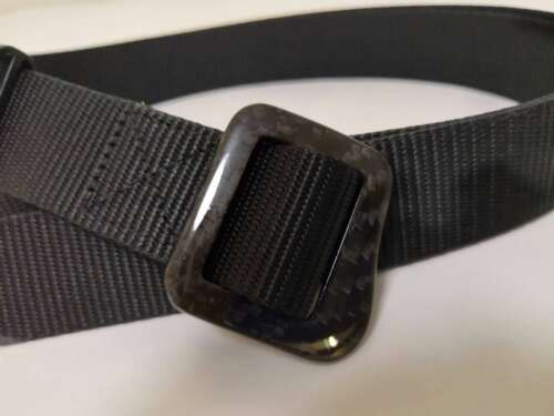 Men/'s hi-tech sport belt-100/% carbon fiber buckle-AIRPORT FRIENDLY