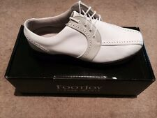 FOOTJOY WOMENS SOFTJOYS GOLF SHOES Size 10 Colour WHITE/TAUPE GREY NEW