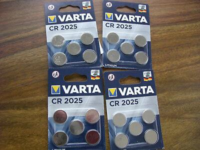 20 Knopfbatterien Cr2025 Varta Original