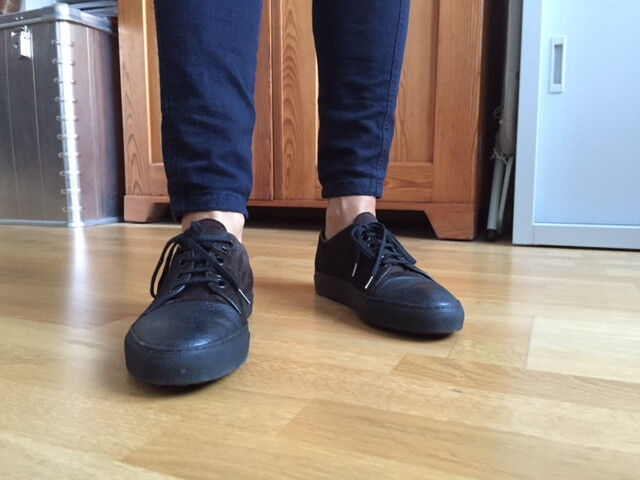 Schuh Sneaker Fell Rocco P. 38 schwarz braun Leder