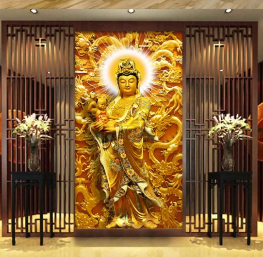 3D Buddha Statue 78 Fototapeten Wandbild Fototapete Bild Tapete Familie Kinder | Spaß  | Neuer Eintrag  | Verpackungsvielfalt