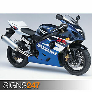 SUZUKI GSX R600 Photo Poster Print Art A0 A1 A2 A3 A4 Motorbike Poster 1681