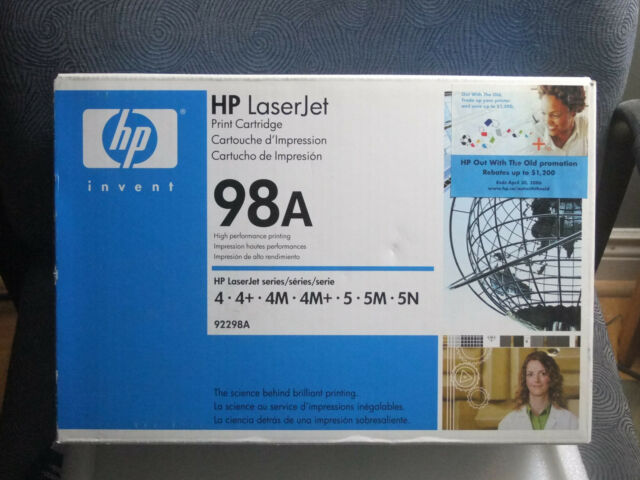 HP 92298A 98A Toner Cartridge Genuine NEW SEALED