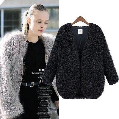 New Women Wool Warm Long Coat Jacket Trench Windbreaker Parka Outwear Excellent