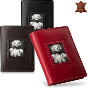Marilyn-Monroe-elegantes-Damen-Portemonnaie-aus-Naturleder-Geldboerse