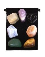 Chakra Healing 7 Stone Tumbled Crystal Set (s1) With Instruction Booklet & Pouch
