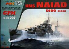 British Cruiser HMS Naiad paper model 1:200 huge 78cm
