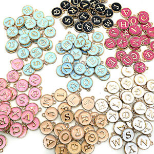 26Pcs//set Latin English Alphabet Letter Charm Pendant Jewelry Bracelet Craft SP