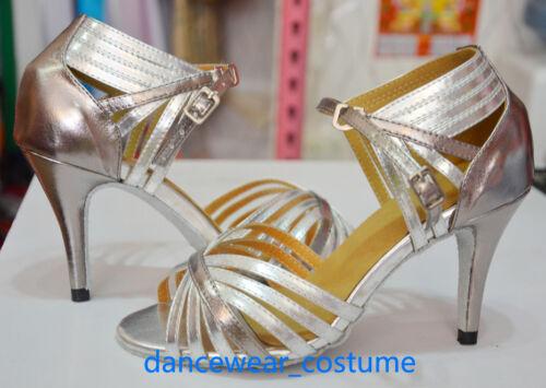 New Ladies Samba Prom Party Ballroom Latin Tango Salsa Dance Shoes Sandals US5-9