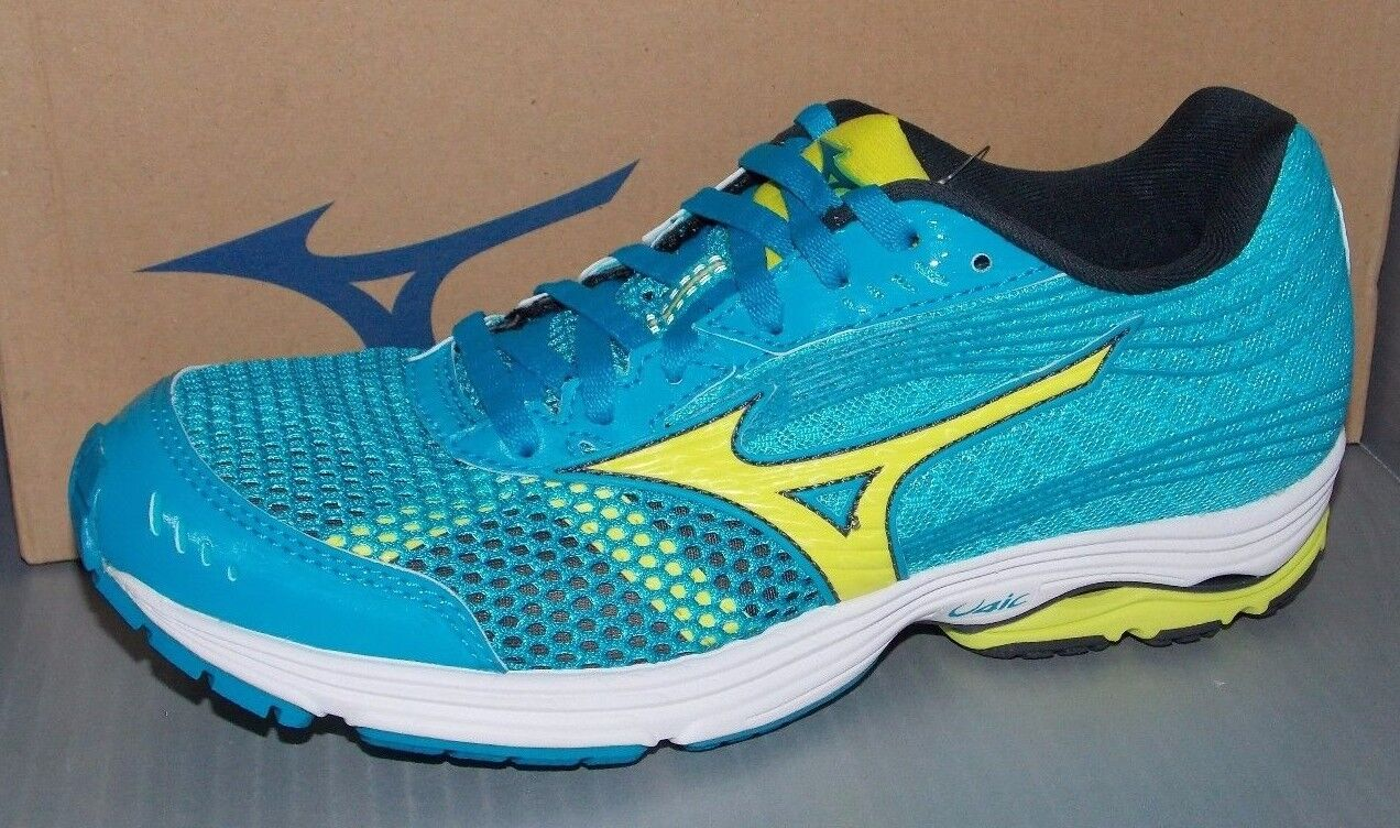 Donna MIZUNO WAVE SAYONARA 3 in colors BLU / YELLOW / LIGHT BLU SIZE 8