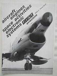 Details about 5/1969 PUB FIAT AVIAZIONE FIAT G 91 Y GENERAL ELECTRIC  J85-GE-13A LE BOURGET AD